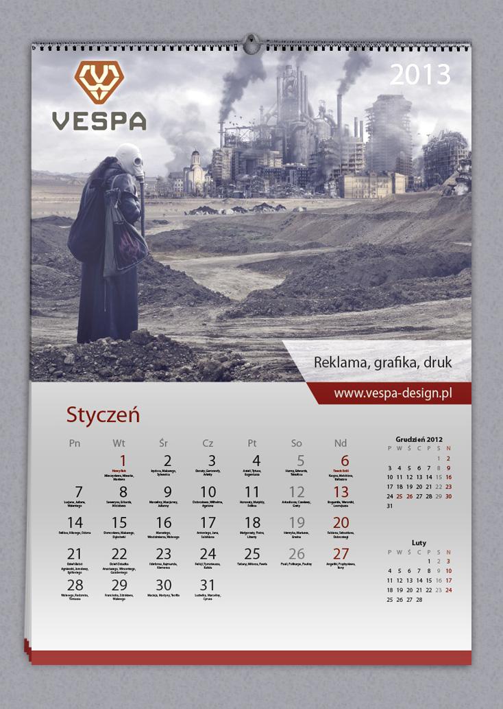 Jak zrobić kalendarz z imieninami 2013