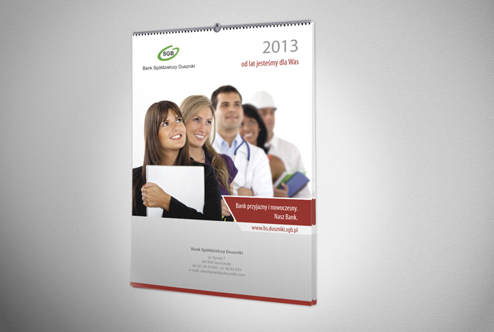 Kalendarz ścienny na rok 2013