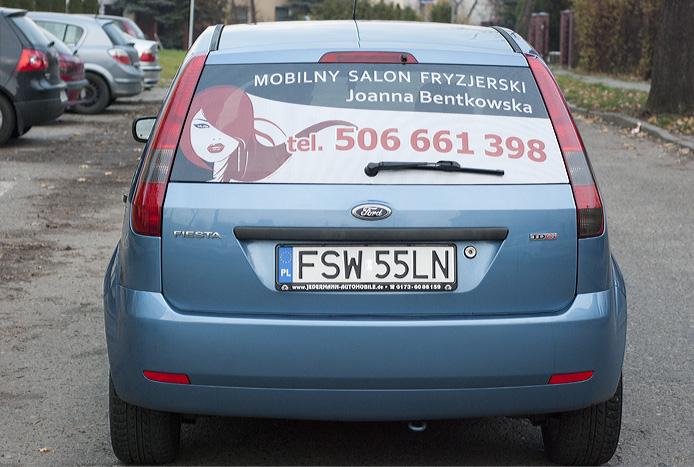 Oklejanie samochodow - Mobilny Zakład Fryzjerski