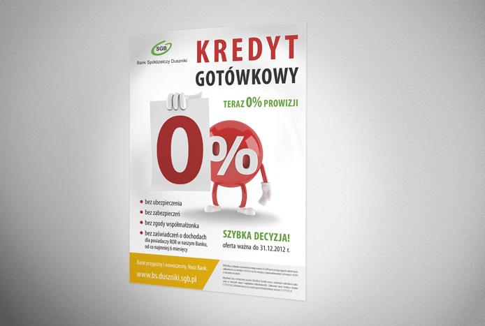"Plakat ""Kredyt 0%"""